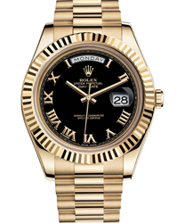 Rolex Day-Date II President Mens Watch Model 218238-RO-BLK