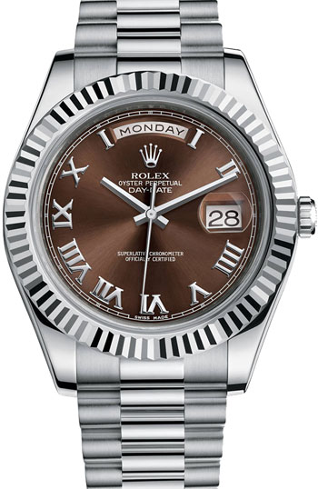 Rolex Day-Date II President Men's Watch Model 218239-RO-BRN