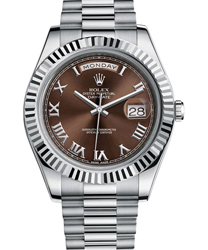Rolex Day-Date II President Mens Watch Model 218239-RO-BRN