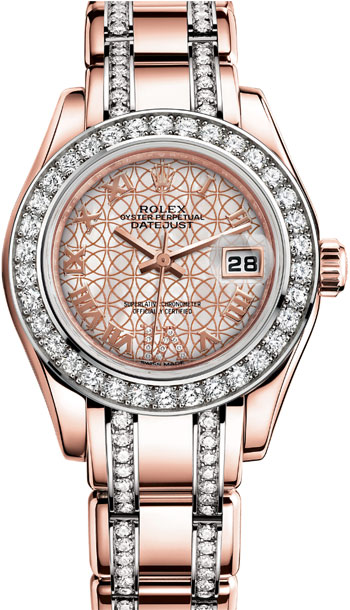 Rolex Pearlmaster Ladies Watch Model 80285-0006