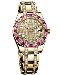 Rolex Pearlmaster Ladies Watch Model 81348-SARO