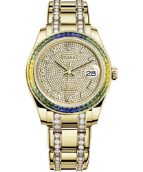 Rolex Pearlmaster Ladies Watch Model 86348SABLVDIAPAVE