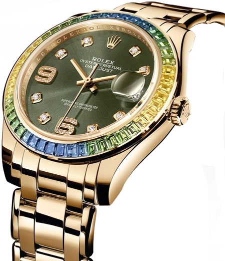 Rolex Pearlmaster Ladies Watch Model 86348SABLV Thumbnail 3