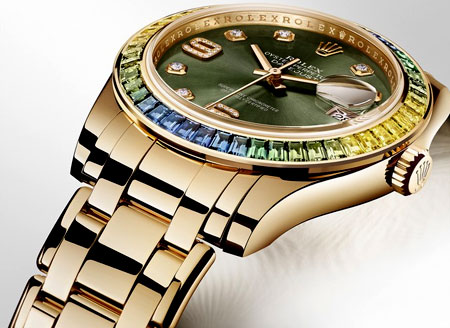 Rolex Pearlmaster Ladies Watch Model 86348SABLV Thumbnail 2