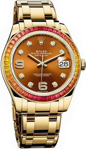 Rolex Pearlmaster Ladies Watch Model 86348SAJOR