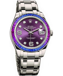Rolex Pearlmaster Ladies Watch Model 86349SAFUBL