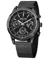 SO & CO Monticello Men's Watch Model: 625006BLACK