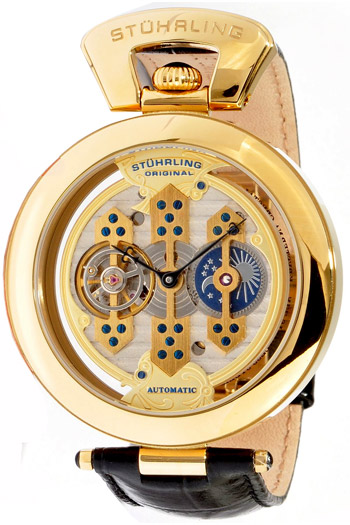 Stuhrling The Emperor 1889 Triple Bridge Mens Wristwatch Model: 127B.333531P