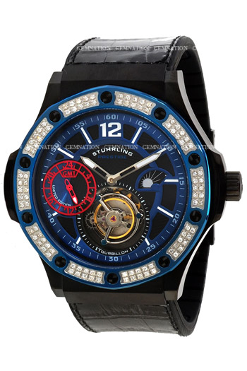Stuhrling Prestige Apocalypse Revelation Tourbillon Mens Wristwatch Model: 160ED.335651