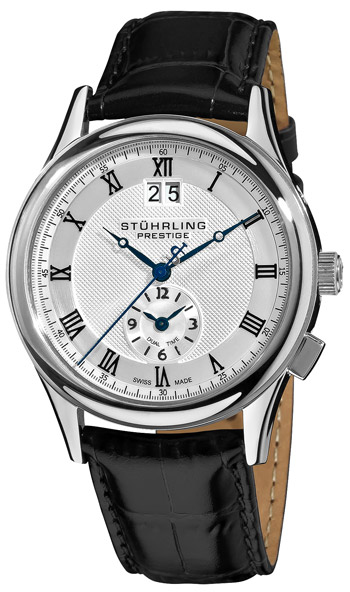 Stuhrling Prestige Tradition Dual Time Quartz Mens Wristwatch Model: 364.33152