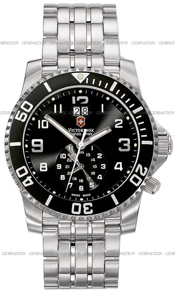 Swiss Army Maverick II Dual Time Mens Wristwatch Model: 241166