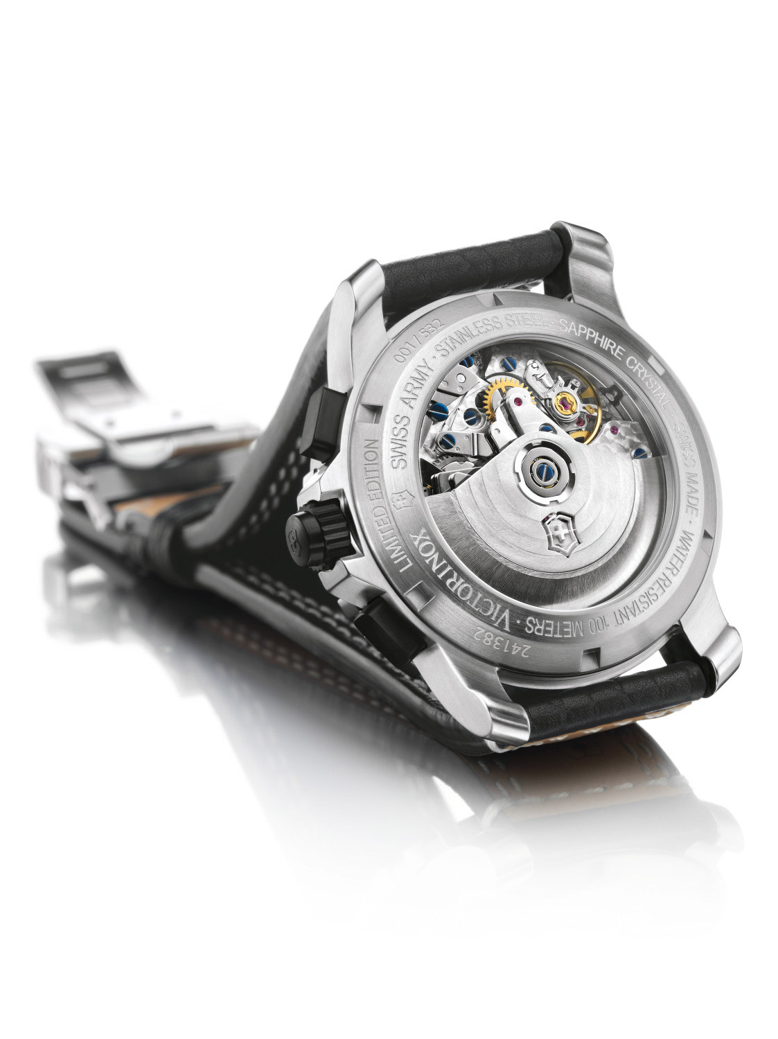 A helicopter-inspired timekeeper by victorinox swiss army.