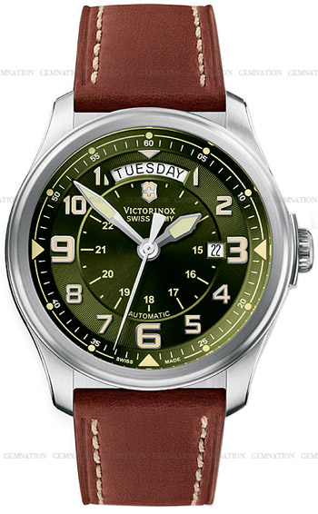 Swiss Army Infantry Vintage Day and Date Mecha Mens Wristwatch Model: 241396