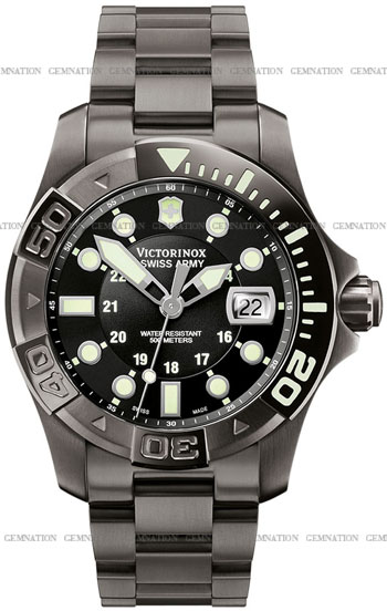Swiss Army Dive Master 500 Black Ice Mens Wristwatch Model: 241429