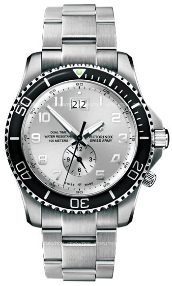 Swiss Army Maverick GS Dual Time Mens Wristwatch Model: 241442