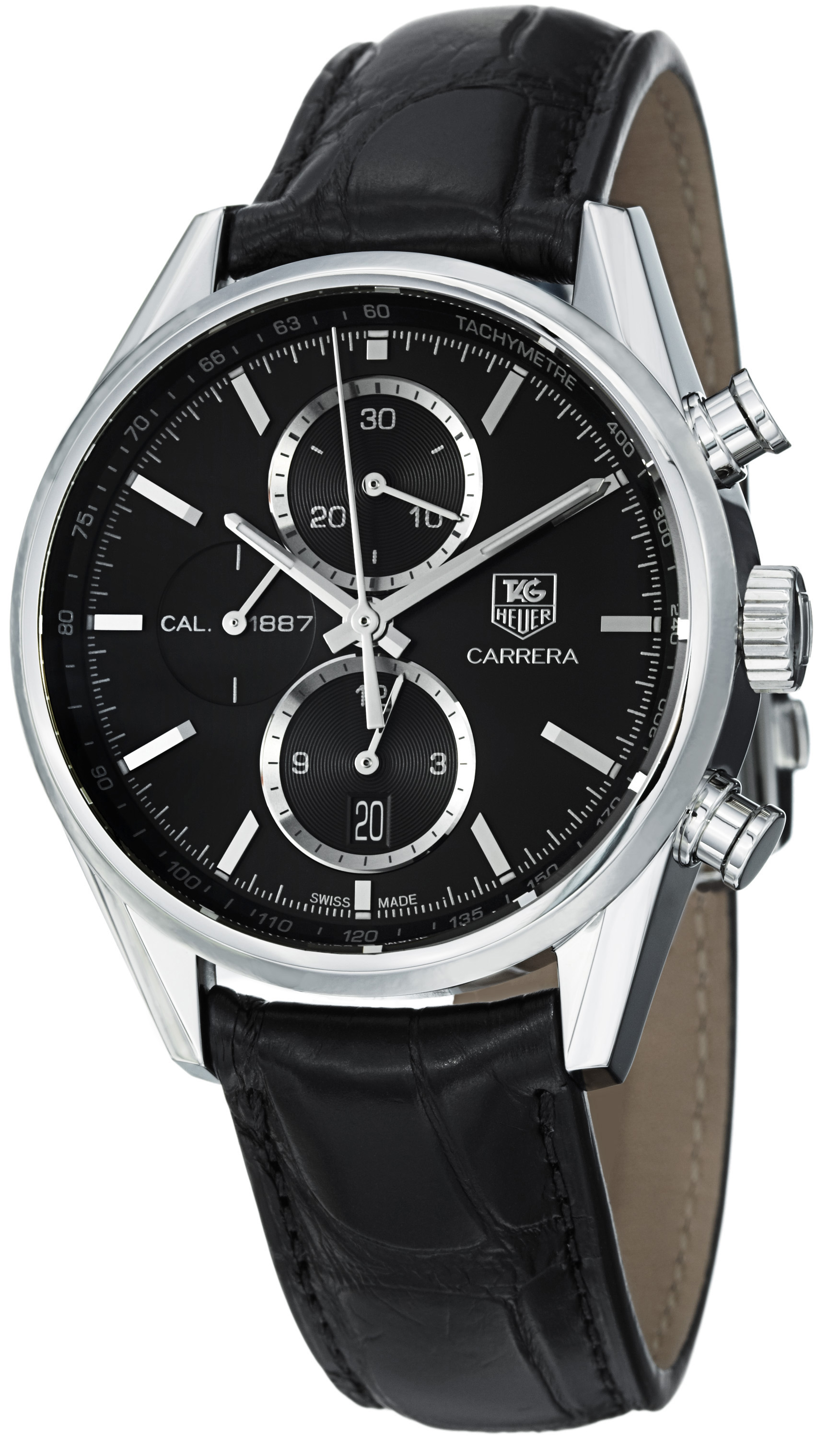 automatic watches mens heuer click close chronograph and us mrp carrera xxl watch to brushed en steel leather tag in