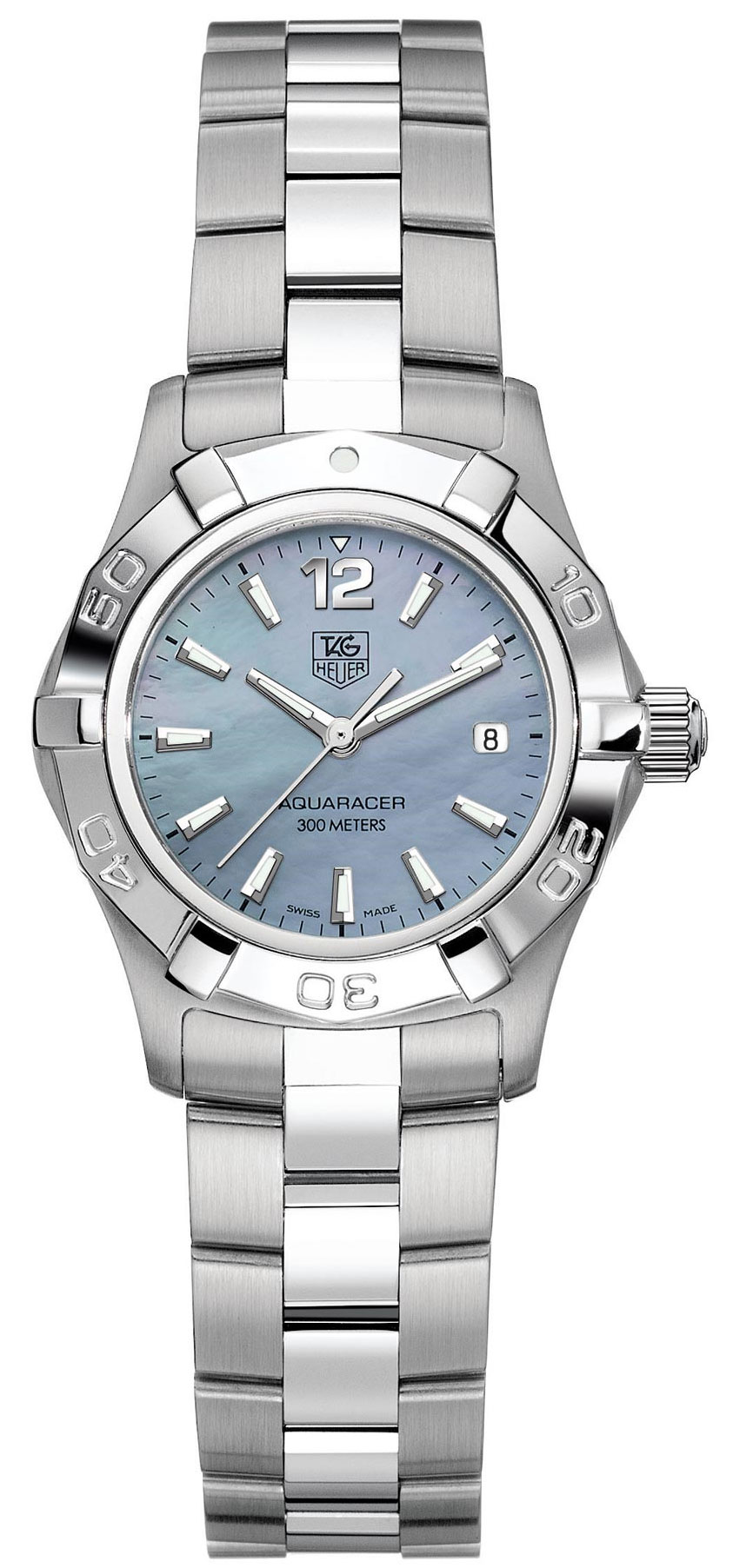 Tag heuer aquaracer 27mm ladies watch model waf1417 ba0823 for Tag heuer women