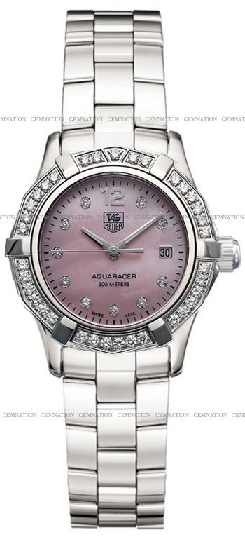 Tag Heuer Aquaracer 27mm Ladies Wristwatch Model: WAF141B.BA0824
