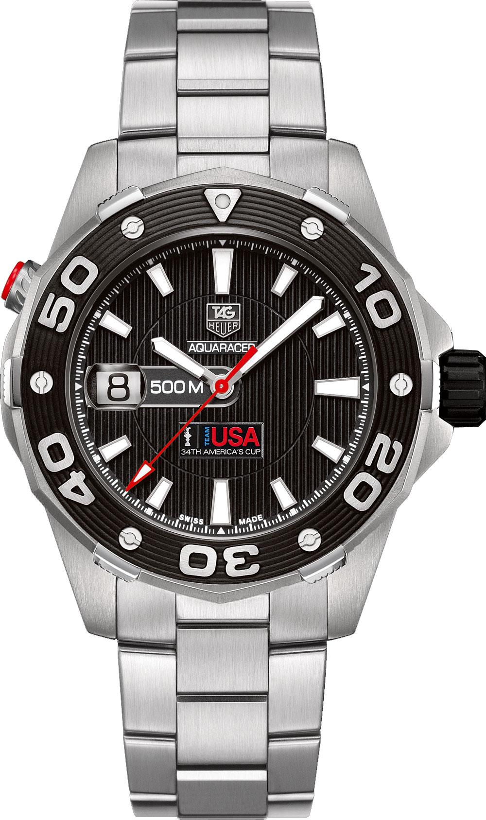 Tag heuer aquaracer 500m calibre 5 men 39 s watch model waj2118 ba0870 for The tag heuer aquaracer