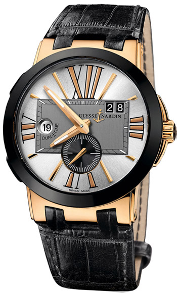 Ulysse Nardin Executive Dual Time Mens Wristwatch Model: 246-00-421