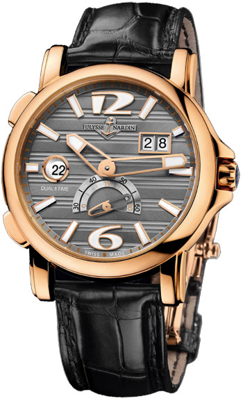 Ulysse Nardin Dual Time 42 mm Mens Wristwatch Model: 246-55-69