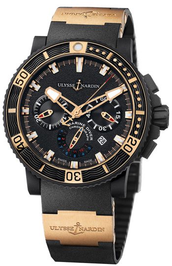 Ulysse Nardin Black Sea Chronograph Men's Watch Model: 353 ...