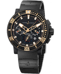 Ulysse Nardin Black Sea Men's Watch Model 353-90.3C