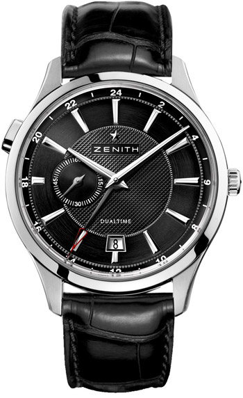 Zenith Captain Dual Time Mens Wristwatch Model: 03.2130.682-22.C493