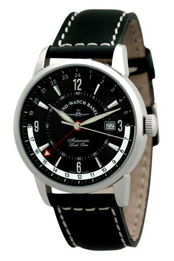 Zeno Magellano GMT (Dualtime) Mens Wristwatch Model: 6069GMT-C1